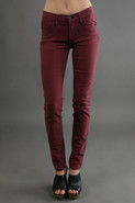 Brushed Twill Legging in Rose Wine