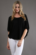 James and Joy by Joy Han Candice Blouse in Black