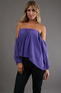 Audrey Top in Purple Rayon