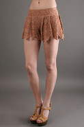 Spanish Lace Short in Blush