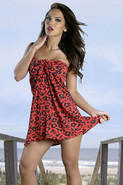 Leopard Tie Wrap Dress