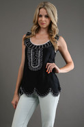 Belle Embroidered Silk Tank
