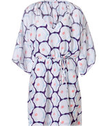 Pop Daisy Coral Iniko Beach Caftan