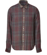 Navy Multi Melange Plaid Ilia Shirt