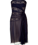 Midnight Blue/Nude Strapless Dress