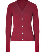 Cabernet V-Neck Cashmere Cardigan
