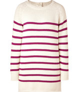 Ecru/Berry Striped Pullover