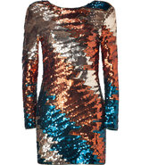 Mystery Copper/Petrol Sequined Dress
