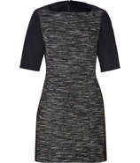 Black/Cream Boulce Knit Dress