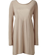 Sandstone Jersey Dress with Tie Back
