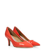 Peach Nectar Patent Leather Anette Pumps