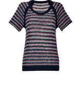 Navy/Multi Short Sleeve Amy Pullover