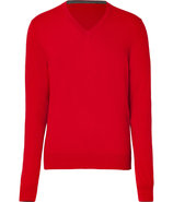 Crimson Red V-Neck Pullover