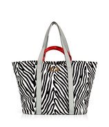 Herringbone Neutral Large Kaya Printed Canvas Bag
