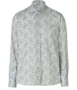 Light Grey Paisley Patterned Shirt
