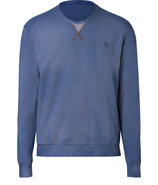 Denim Blue Cotton-Blend Sweatshirt