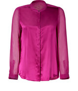 Jazzberry-Magenta Stretch Silk Blouse