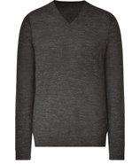 Black and Clay V-Neck Pullover