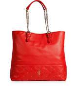 Red Anja Frankie Leather Tote