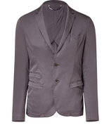 Grey Cotton Stretch Blazer