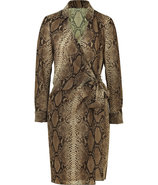 Sepia Snake Print Wrap Dress