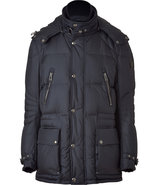 Ink Blue Colburn Hooded Down Jacket