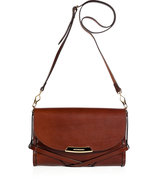 Dark Tan Leather Abbott Crossbody Bag