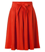 Rust Belted Swing Skirt