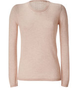 Beige-Rose Heather Wool Pullover