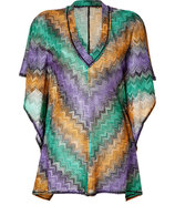 Amethyst/Emerald/Topaz Metallic Short Caftan