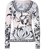 Wisteria Printed Jersey Top