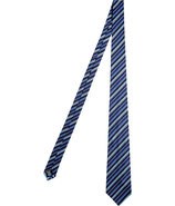 Blue and Black Silk Tie