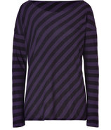 Violet/Black Oversized Cotton-Cashmere T-Shirt