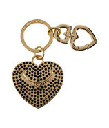 Black Pave Heart Key Fob in Gift Box