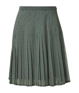 Blue Printed Pleated Skirt