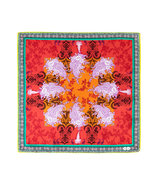 Lobster/Orange Patterned Silk Pocket Square