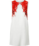 Coral-Multi Silk Dress