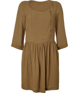 Sandalwood Pleated Dress