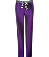 Winter Iris/Black Striped Pant with Contrast Waist