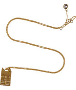 Oro Rue Tag Necklace