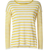 Citrus Striped Linen Pullover