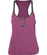Frozen Berry Pink/Charcoal Striped Jersey Tank