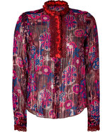 Hot Pink Lurex Silk Blouse