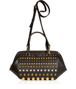 Licorice Leather Studded Daily Tote