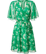 Green Silk Wrap Dress