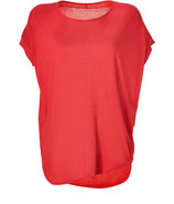 Bright Red Cozy Jersey Top