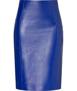 Electric Blue Leather Skirt