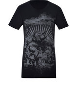 Anthracite Cotton Printed T-Shirt