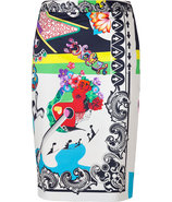 Multicolored Cotton Stretch RocknRoll Printed Penc