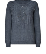 Grey Studded Pullover